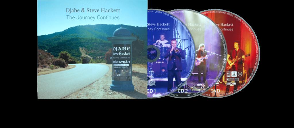 Djabe & Steve Hackett The Journey Continues (digi) 2CD+DVD (CD) | Lemezkuckó CD bolt